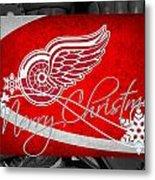 Detroit Red Wings Christmas Metal Print