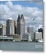 Detroit Riverfront Metal Print