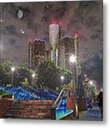 Detroit Riverwalk Metal Print by Michael Rucker