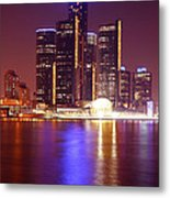 Detroit Skyline 5 Metal Print