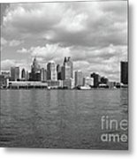 Detroit Skyline Metal Print