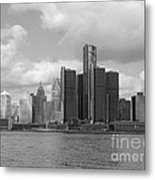 Detroit Skyscape Metal Print
