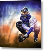 Detroit Tiger Alex Avila Metal Print