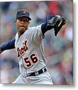 Detroit Tigers V Minnesota Twins Metal Print