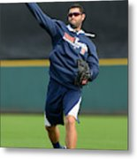 Detroit Tigers Workout Metal Print