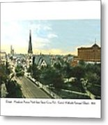 Detroit - Woodward Avenue North Grand Circus Park - Central Methodist Episcopal Church - 1920 Metal Print