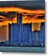 Detroits Sky Metal Print by Nicholas  Grunas