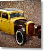 Deuce Coupe On Rust  Metal Print