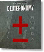 Deuteronomy Books Of The Bible Series Old Testament Minimal Poster Art Number 5 Metal Print by Design Turnpike
