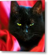 Devil In A Red Dress Metal Print