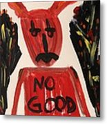 devil with NO GOOD tee shirt Metal Print