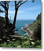 Devil's Churn Oregon Coastline Metal Print