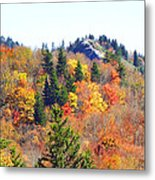 Devil's Courthouse In The Fall Metal Print