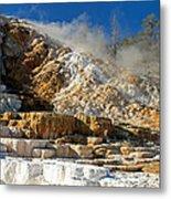 Devils Thumb At Mammoth Hot Springs Metal Print