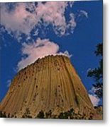 Devils Tower As A Volcano Metal Print