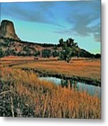 Devils Tower Daybreak Metal Print