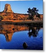 Devils Tower Morning Metal Print