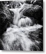 Devon River Monochrome Metal Print