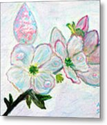 Dew And Smell Of Almond Flowers Metal Print