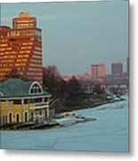 Dewolfe Boathouse Riverside Metal Print