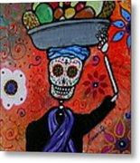 Dia De Los Muertos Fruit Vendor Metal Print