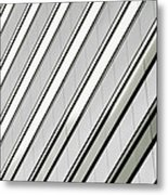 Diagonal Lines Of A Chicago Building Metal Print