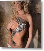 Diamond Girl Metal Print