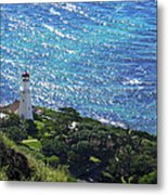 Diamond Head Lighthouse - Hawaii Metal Print