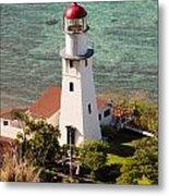 Diamond Head Lighthouse Honolulu Metal Print