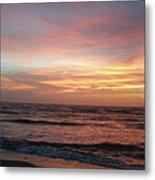 Diamond Shoals Sunset - Outer Banks Nc Metal Print