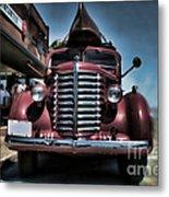 Diamond T Vintage Truck Art Metal Print