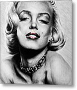Diamonds Are A Girls Best Friend   Hot Lips Edition Metal Print by Andrew Read