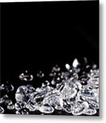Diamonds On Black Background Metal Print
