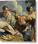 Diana And The Nymphs Surprised By Actaeon Metal Print