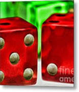 Dice - Lucky Seven Metal Print