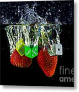 Dice Splash Metal Print by Rene Triay Photography
