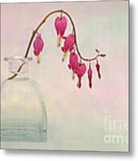 Dicentra In A Glass Vase 2 Metal Print