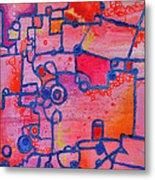 Dichotomy  Original Abstract Oil Painting By Regina Valluzzi Metal Print
