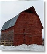 Dictionary's Red Barn Metal Print