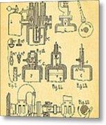 Diesel Internal Combustion Engine Patent Art 1898 Metal Print