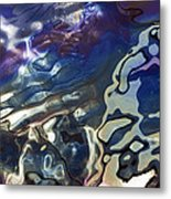 Diesel Oil Spill From Boats In Harbor Metal Print
