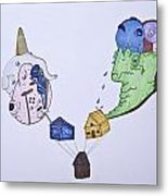 Difference In Homes Metal Print