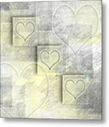 Digital-art Hearts II Metal Print