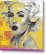 Digital Art Marilyn Metal Print