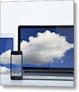 Digital cloud Metal Print