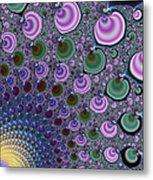 Digital Fractal Artwork Beautiful Colors Metal Print