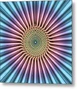 Digital Mandala Flower Metal Print