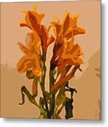 Digital Painting Lily Like Metal Print