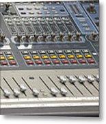 Digital Sound Mixing Console Closeup Metal Print