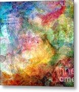 Digital Watercolor Abstract Metal Print